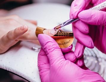 Vegan Beauty Salon Painting Nails